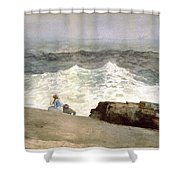 The Northeaster Shower Curtain