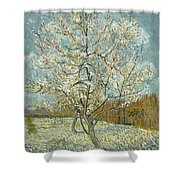The Pink Peach Tree Shower Curtain