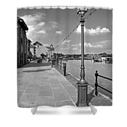 The Promenade At Barton Marina Shower Curtain