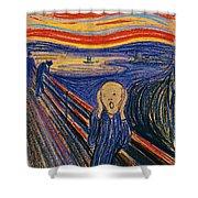 The Scream Ver 1895 Edvard Munch Shower Curtain