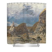 The Shallows Of Hareslade Cove Shower Curtain