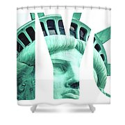 The Statue Of Liberty At New York City  Shower Curtain