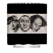 The Three Stooges Hollywood Legends Shower Curtain