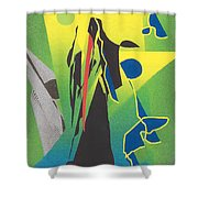 The Time Reaper Shower Curtain