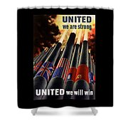 The United Nations Fight For Freedom Shower Curtain