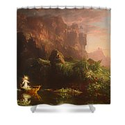 The Voyage Of Life - Childhood Shower Curtain