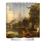 The Voyage Of Life - Youth Shower Curtain