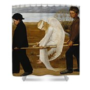 The Wounded Angel Shower Curtain