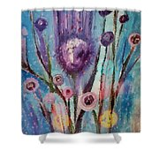Thistle Queen Shower Curtain