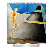 Thoth The Atlantean Shower Curtain