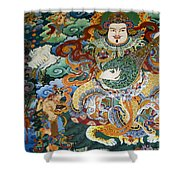 Tibetan Buddhist Mural Shower Curtain