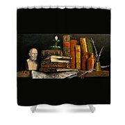 Time And Old Friends Shower Curtain