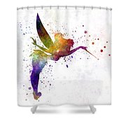 Tinkerbell In Watercolor Shower Curtain