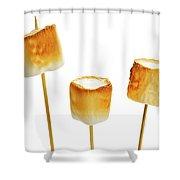 Toasted Marshmallows Shower Curtain