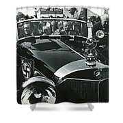 Tom Barrett And Family With High Bidder  Earl Clark At $153,000 Of Adolf Hitlers Mercedes Benz 770k Shower Curtain