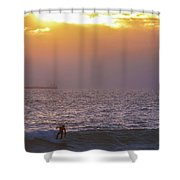2 Toned Shower Curtain