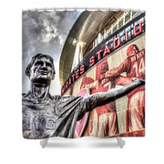 Tony Adams Statue Emirates Stadium Shower Curtain