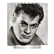 Tony Curtis, Vintage Hollywood Legend Shower Curtain