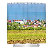 Town Of Vrbovec Landscape And Architecture Shower Curtain