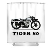 Triumph Tiger 80 1937 Shower Curtain