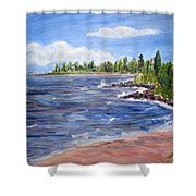 Trixies Cove Shower Curtain
