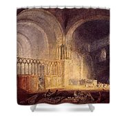 Turner Joseph Mallord William Transept Of Ewenny Prijory Glamorganshire Joseph Mallord William Turner Shower Curtain