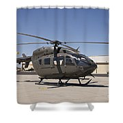 Uh-72 Lakota Helicopter At Pinal Shower Curtain