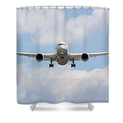 United Airlines Boeing 787 Shower Curtain