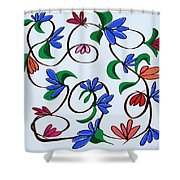 untitled  Floral Shower Curtain