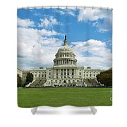 Us Capitol Washington Dc Negative Shower Curtain