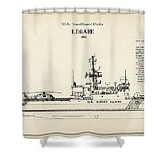 U.s. Coast Guard Cutter Legare Shower Curtain