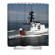 U.s. Coast Guard Cutter Waesche Shower Curtain