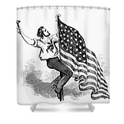 U.s. Flag, 19th Century Shower Curtain