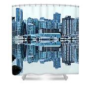 Vancouver Skyline Canada Shower Curtain