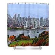 Vancouver In Fall Shower Curtain