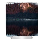 View Across Lake Bled Shower Curtain