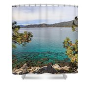 View Across Lake Tahoe Shower Curtain