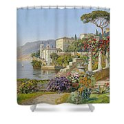 View Of A Lake In The South Shower Curtain