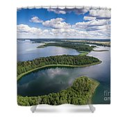 View Of Small Islands On The Lake In Masuria And Podlasie  Shower Curtain
