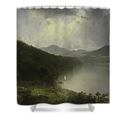 View On The Hudson Shower Curtain