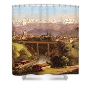 views of Bern and the Bernese Oberland Shower Curtain