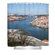 Vila Nova De Gaia And Porto In Portugal Shower Curtain