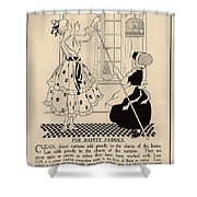 Clean Dainty Curtains Vintage Soap Ad Shower Curtain