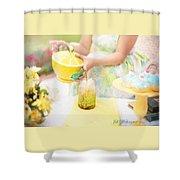 Vintage Val Iced Tea Time Shower Curtain