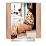 Vintage Val Winter Glam Shower Curtain