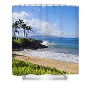 Wailea, Ulua Beach Shower Curtain