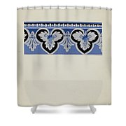 Wall Paper Border Shower Curtain