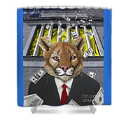 Wall Street Predator Shower Curtain