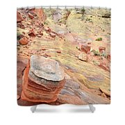 Wash 3 Color In Valley Of Fire Shower Curtain