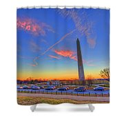 Washington Monument Sunset Shower Curtain